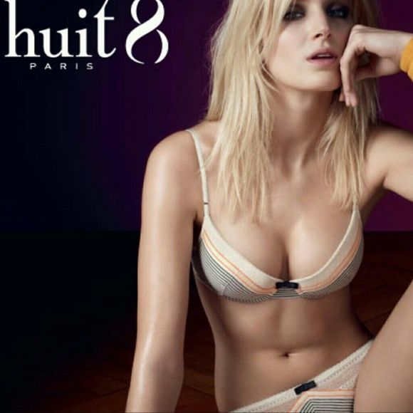 New huit 8 paris interview cream magic air bra 32c New with tags interview magic air padded bra in cream stripe by huit 8 paris lingere collection. 32 C. Has removeable air insert padding. Selling the matching interview brief panty separately. Huit Intimates & Sleepwear Bras