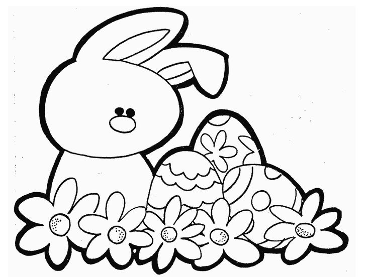 pics for gt spring coloring pages for kids bunny