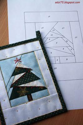 "vsyakosti sorts ...: Christmas garland in the art ""paper piecing"". Checkbox first"