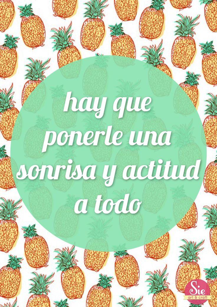 Actitud y una sonrisa siempre ♥