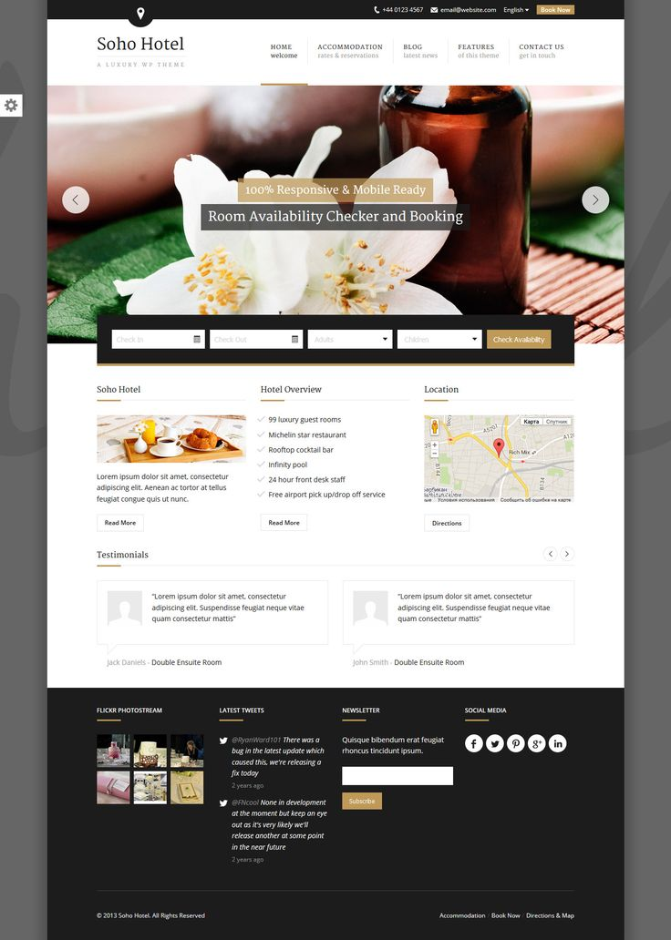 Best Free Bed And Breakfast WordPress Websites