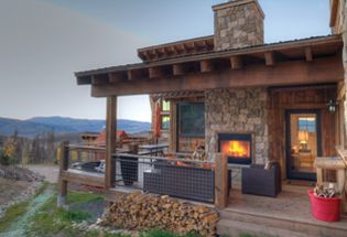 17 best ideas about covered back porches on pinterest for Back porch fireplace