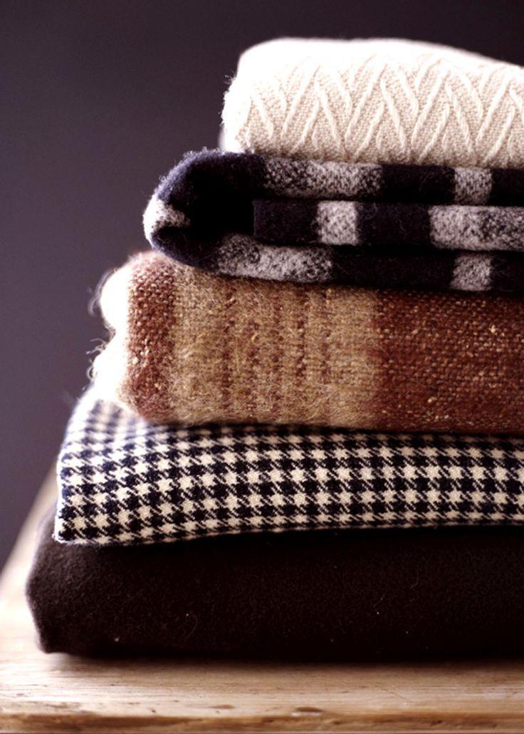 cozy wool blankets, textures & varieties