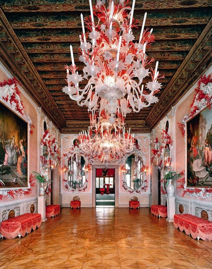 Tony Duquette for Dodie Rosekrans - The Coral Room in her Venice Palazzo.: Palazzo Brandolini, Dodi Rosenkran, Dodi Rosekran, Tony Duquett, Coral Ballrooms, Fabulous Rooms, Interiors Design, Candy Canes, Venice Italy
