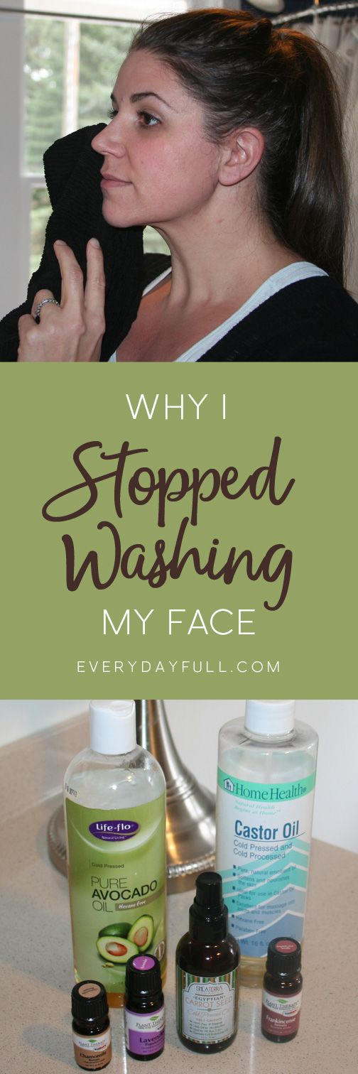 WHY I STOPPED WASHING MY FACE - This is a step-by-step guide to the oil cleansing method. Centuries old, this method will clean your pores, help reduce or eliminate acne, smooth fine lines and wrinkles and leave your skin feeling fresh and clean and years younger!