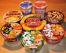 японский мгновенный рамэн, соба, удон, yakisoba, 8 чашек комплект, мини