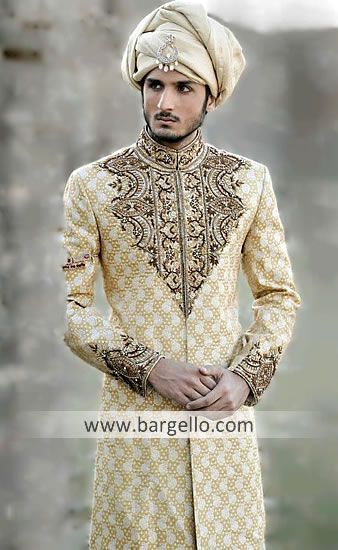 [[4]] M669 Pakistani Designer Sherwanis East London, Indian Wedding Sherwanis East London, Traditional Sherwani Men