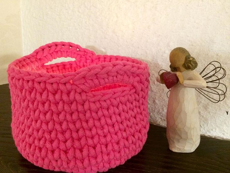 корзинка из шнура для вязания
