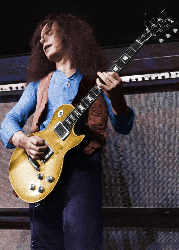 Paul Kossoff First photo I coloured, not a bad start