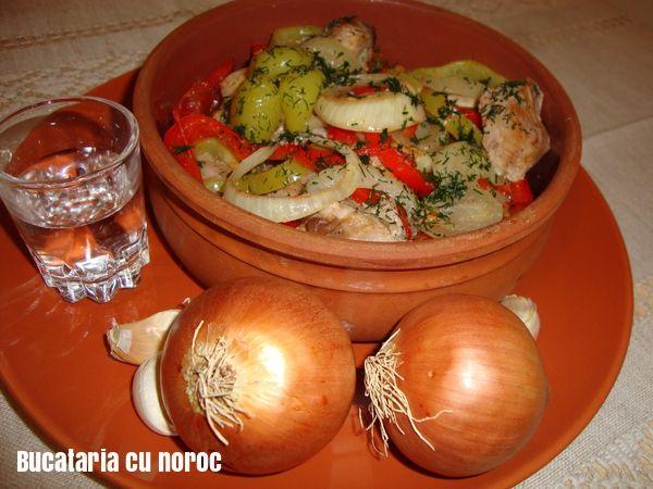 Friptura cu legume gatita in hartie de copt - Bucataria cu noroc