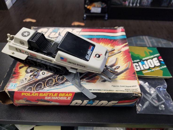 G.I. Joe ARAH Skimobile Polar Battle Bear w/ box
