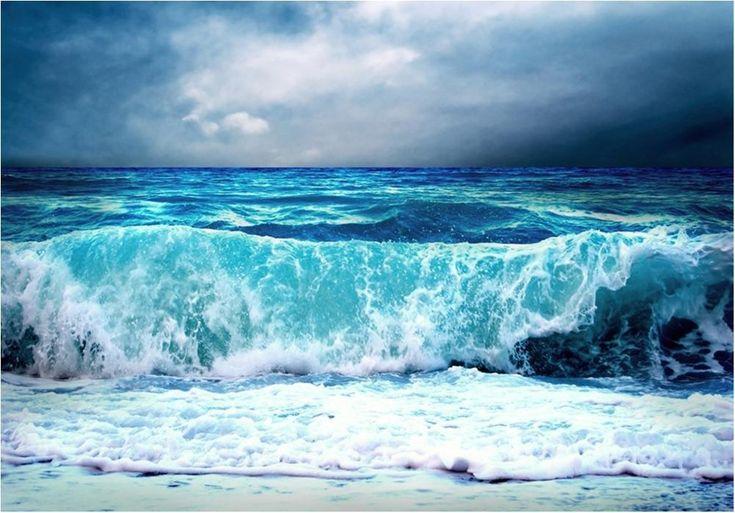 Nonwoven Foto Tapet Blue Seascape - väggdekor som gör skillnad! på