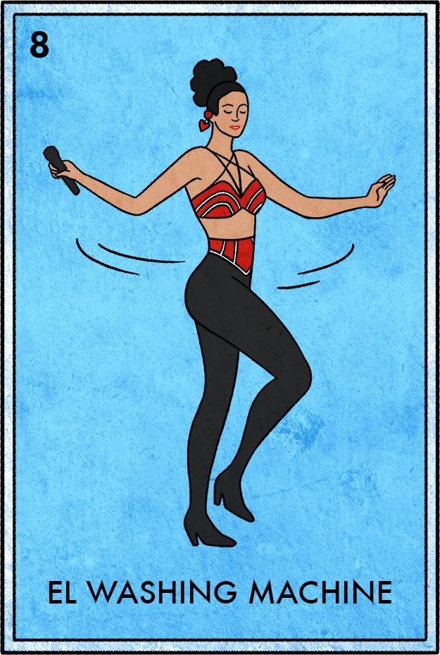 "El Washing Machine   11 Selena Lotería Cards That Will Make You Go ""BIDI BIDI BOM BOM"""