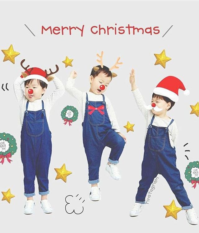 Merry christmas from daehan minguk manae #triplets #thereturnofsuperman #tros
