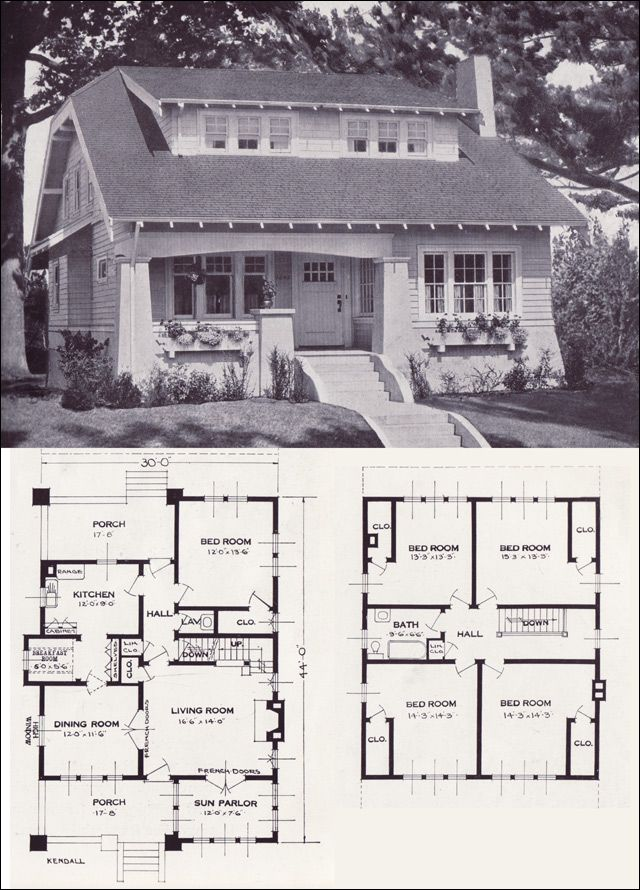 open up one of the upstairs rooms to become a family room for the kids - Bungalow Floor Plans