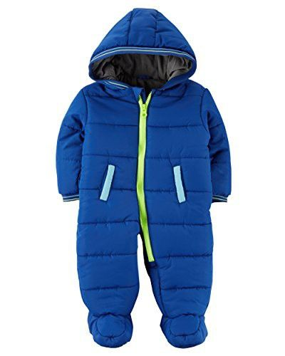 9d7ad79eb Carter's Baby Boys' Zip-Front Snowsuit | Baby Clothes | Carters baby ...