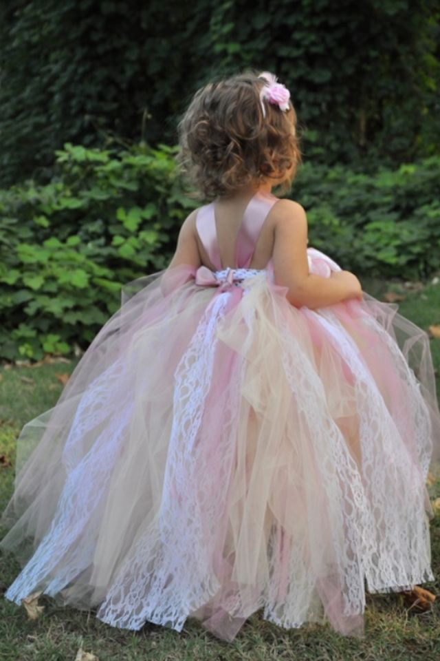 Beautiful shabby chic type flower girl dress.