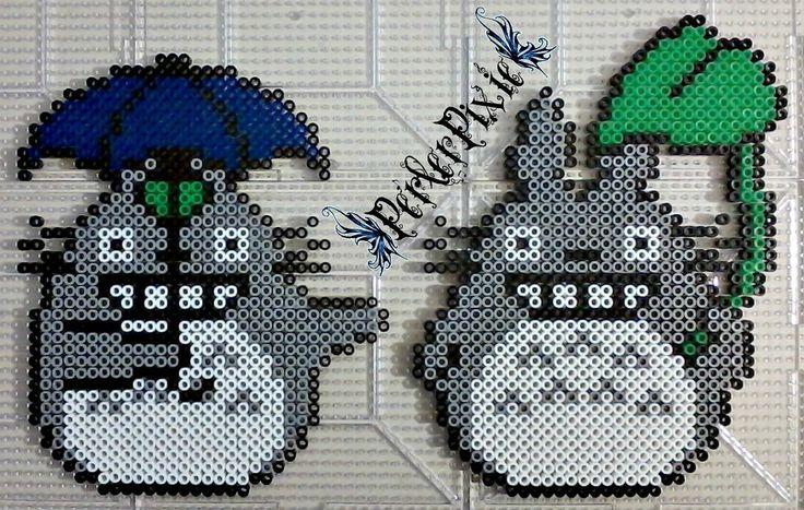 Rainy Day Totoro perler beads by PerlerPixie