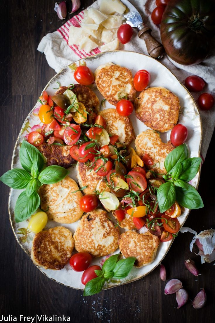 Delicious, savoury fritters with Grana Padano cheese and fresh tomato and basil salsa.