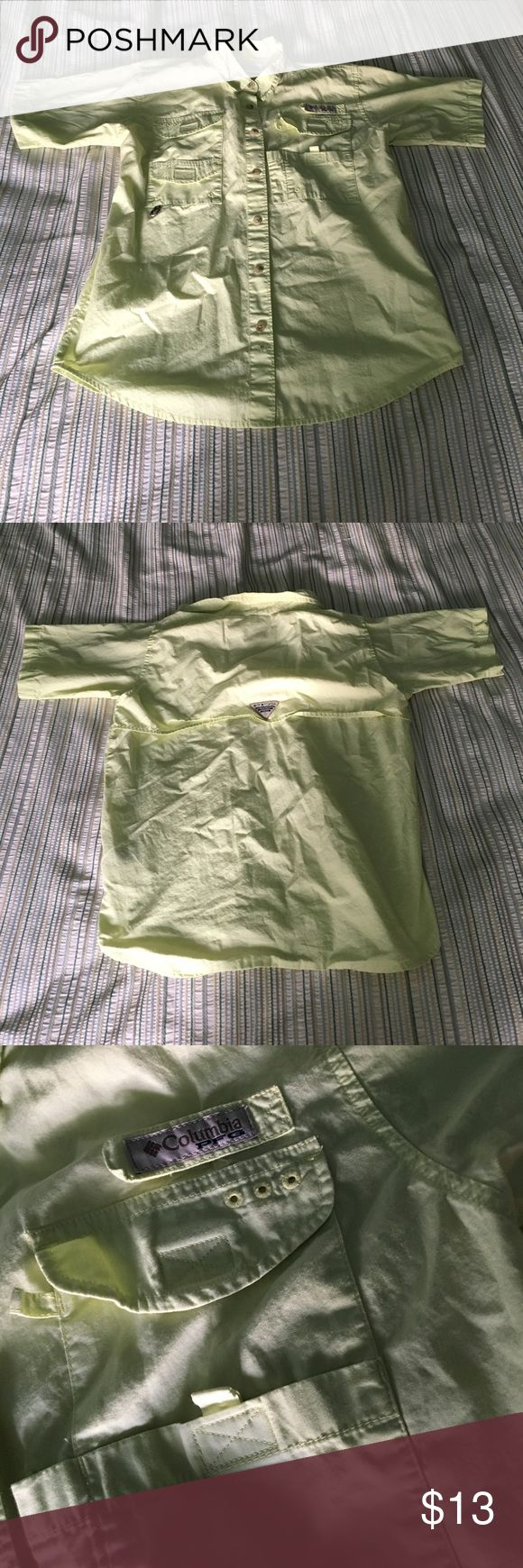 COLUMBIA PFG SHIRT COLUMBIA PFG KIDS FISHING SHIRT. SIZE YOUTH LARGE. DARK YELLOW COLOR. LIKE NEW. HAS 4 MINI POCKETS AND BREATHING MESH ON BACK. COMMENT FOR QUESTIONS. Columbia Shirts Casual Button Down Shirts