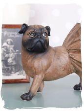 Figurine Roquet Sculpture De Chien Carlin Vintage Figure Aspect Ancien