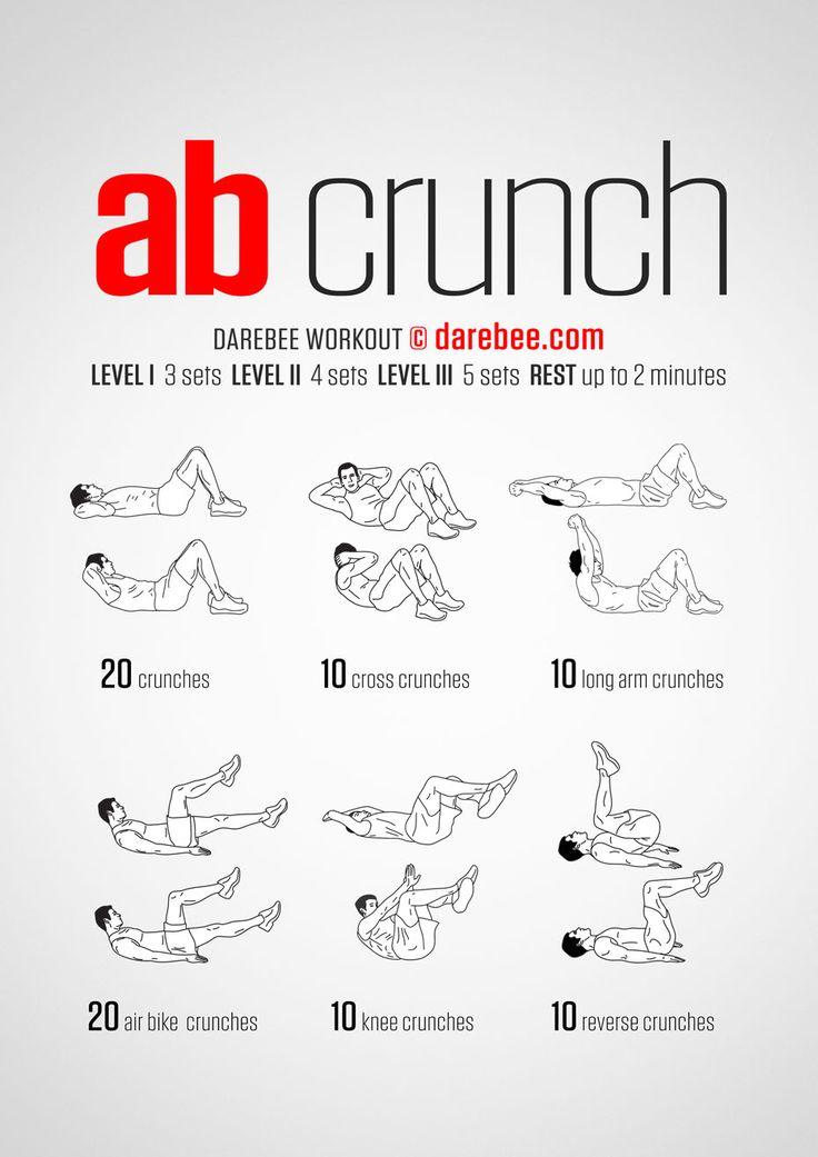 DAREBEE.com Ab Crunch Workout/ мышцы живота — основа вашей производительности, укрепляем пресс с помощью этого воркаута / фитнес, воркаут, упражнения, похудение, здоровье, зож