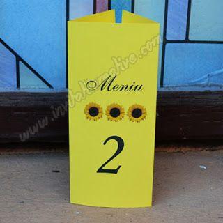 Invitatii Creative: Floarea soarelui a venit la www.invitatiicreative.com!