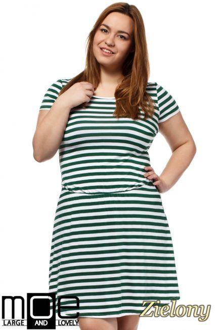 Drapowana sukienka w paski marki MOE L&L.  #cudmoda #moda #sukienki #dresses #kleid #kleidung #clothes #odzież #ubrania