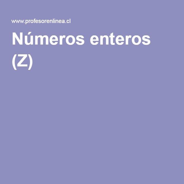 Números enteros (Z)