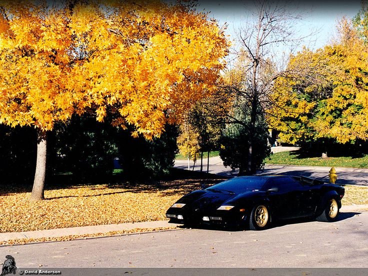 A Black Lamborghini Countach S With Black Tinted Windows, You Donu0027t Get  More Intimidating Than This One .