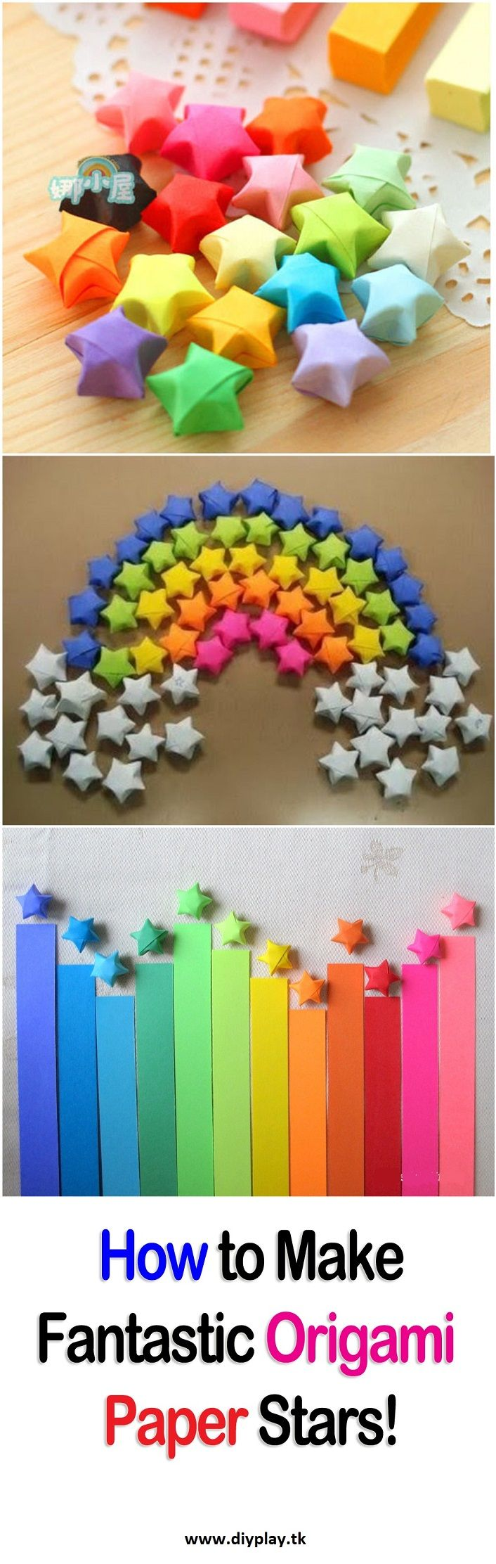 How to Make Fantastic Origami Paper Stars!..I learned this years ago from an Asian student who worked in shelving at IUPUI, and I LOVE doing them! .....b
