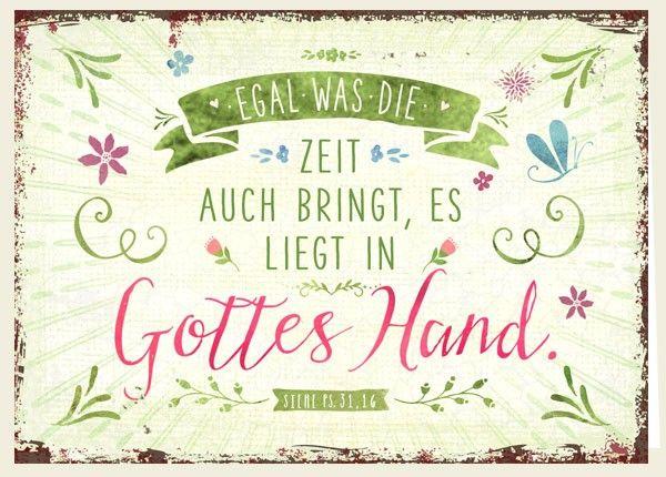 Doppelkarte - Gottes Hand