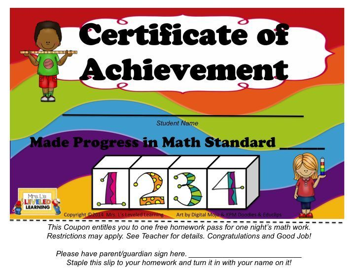 """Rereading Harry & Rosemary Wong's book, """"The First Days of School,"""" inspired me to create some student incentives! These free certificates can be sent home each time a student masters another level. You could wait until they've reached level 3, 4, or send them home after the post-assessment.  The great thing is that they double as homework passes, which every kid can get excited about!! 