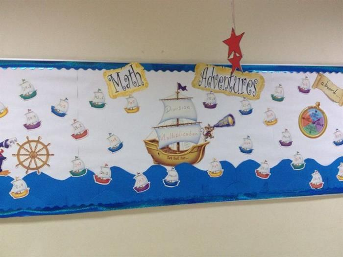 Thanks to Linda, one of our Facebook fans, for sending us this great interactive math bulletin board idea! Find more creative bulletin board ideas here: http://www.mpmschoolsupplies.com/ideas/4861/math-adventures-interactive-nautical-themed-bulletin-board/