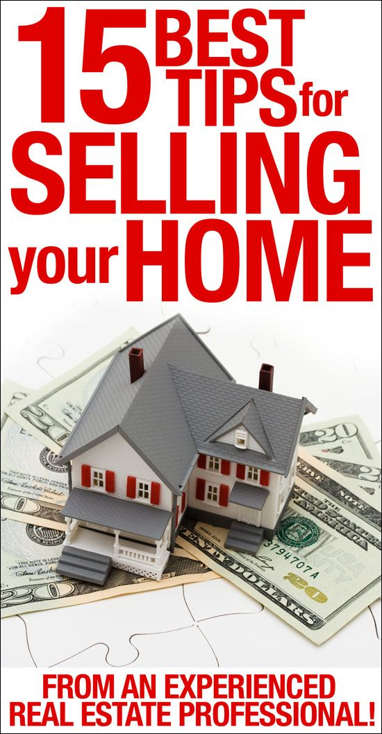 15 tips for selling your home!