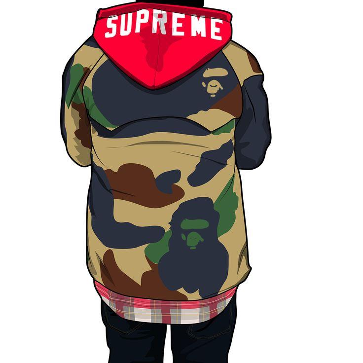 19 Best Dope Supreme/bape/Nike Toons Images On Pinterest