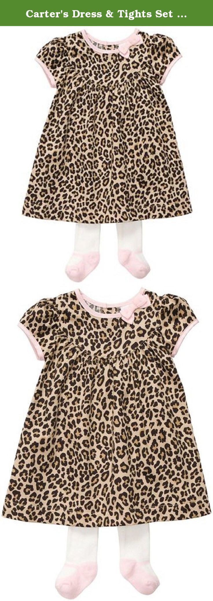 Carter's Dress & Tights Set - Leopard-6M. Carters Dress & Tights Set - Leopard Carter's is the leading brand of children's clothing, gifts and accessories in America, selling more than 10 products for every child born in the U.S. The designs are based on a heritage of quality and innovation that has earned them the trust of generations of families. .