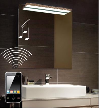 +SOUND -Villeroy Boch    Laissez-vous séduire par les dernières innovations de Villeroy & Boch : le design haut de gamme et l'excellente qualité sont maintenant audibles ! Les miroirs lumineux de la collection Memento et la gamme de miroirs More to See sont équipés d'un système de sonorisation discrètement dissimulé et fonctionnant avec tous les appareils compatibles Bluetooth, tels les lecteurs MP3 et les Smartphones. Dorénavant, vous pouvez écouter votre musique préférée, en toute liberté…