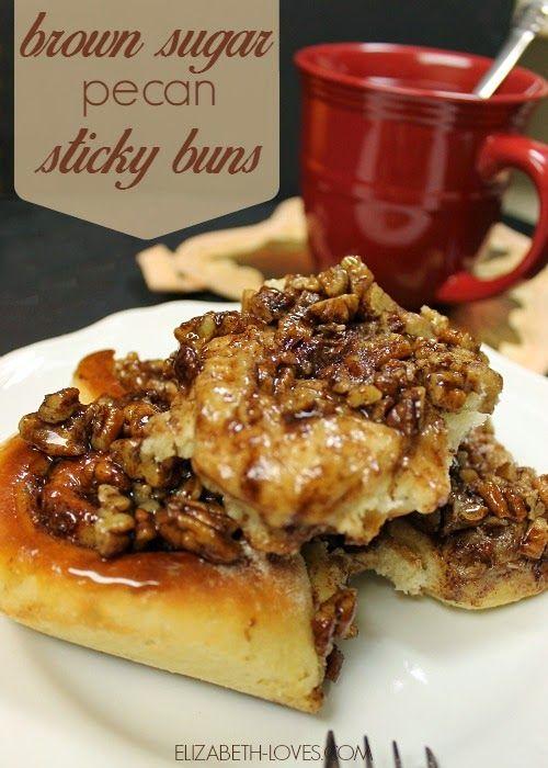 Brown Sugar Pecan Sticky Buns - Elizabeth Loves