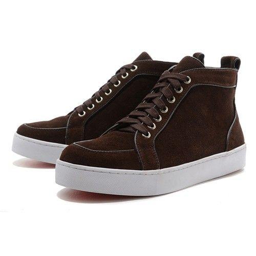 Christian Louboutin Zapato de barco maron