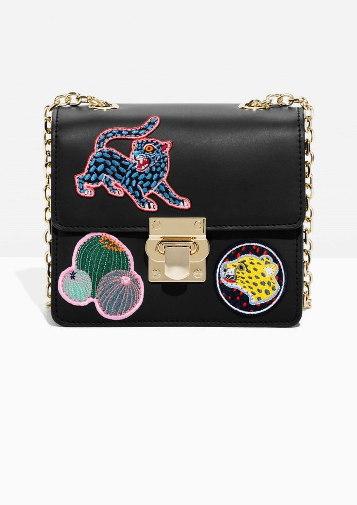 & Other Stories image 1 of Patched Mini Leather Bag in Black