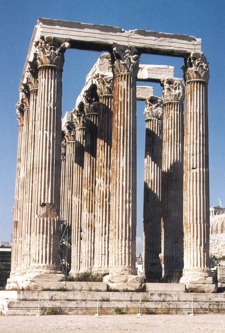 Olympeion, the Columns of Olympian Zeus. (Walking Athens, Route 05 - Lower Plaka)