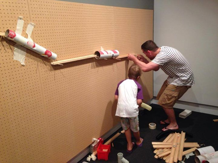 """'Construction' - the hands on exhibition at Ipswich Art Gallery, image shared by I AM Montessori ("""",)"""
