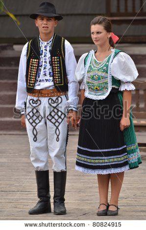 DETVA, SLOVAKIA - JULY 10: Unidentified dancers participate in the Slovakian folklore festival Detva July 10, 2011 in Detva, Slovakia. - stock photo