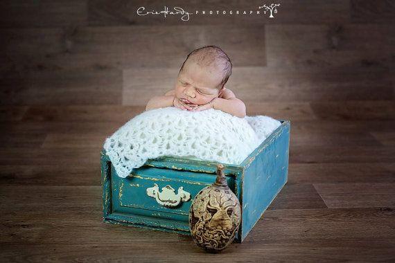 Newborn Mohair Blanket Crocheted Lace Blanket by SquishyBabyStuff, $21.00