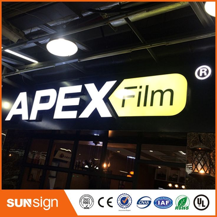 Aliexpress sign shop Factoy Outlet Outdoor Acrylic LED Store Sign