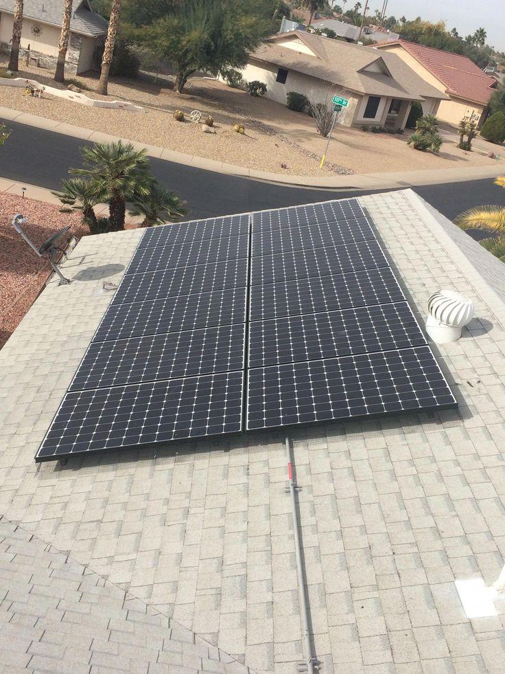 Solar panel screening on an asphalt shingle roof