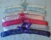 personalised wedding bridesmaid coat hangers for the dresses flower girl