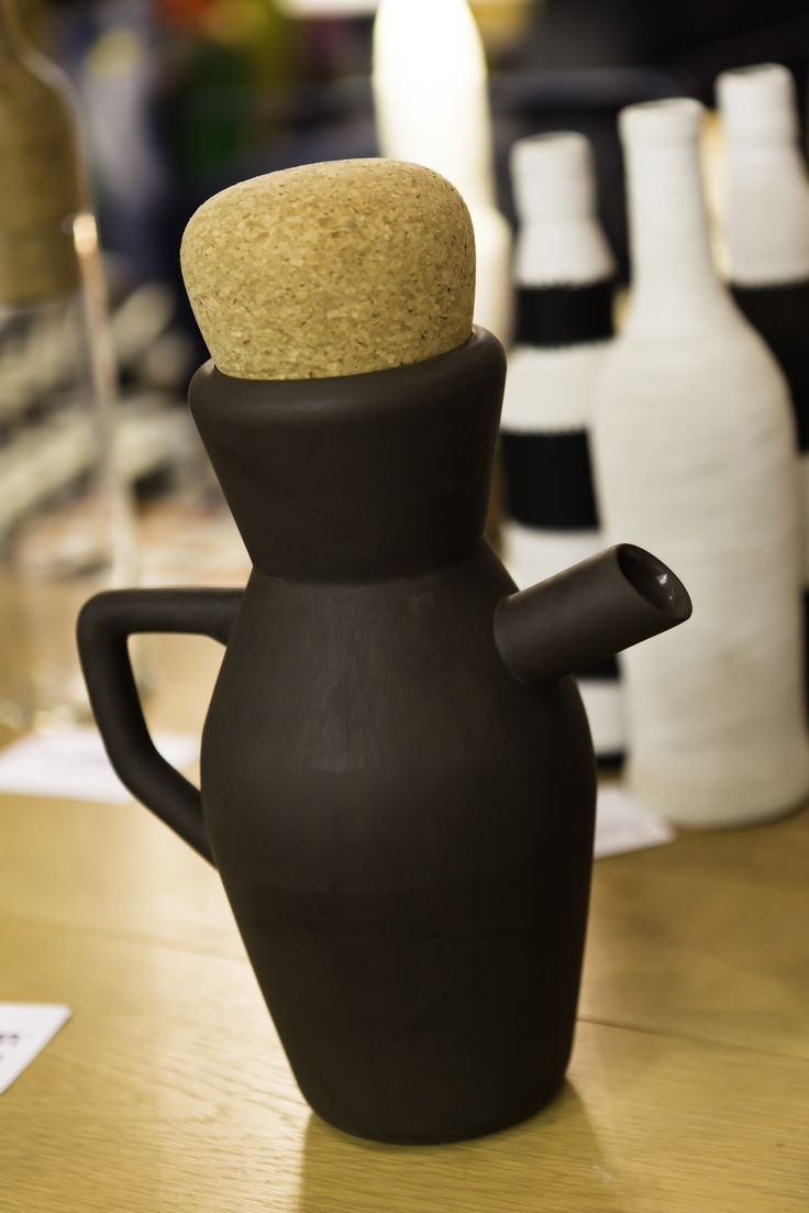 Item #79 - Black Clay Jug by Wiid Design