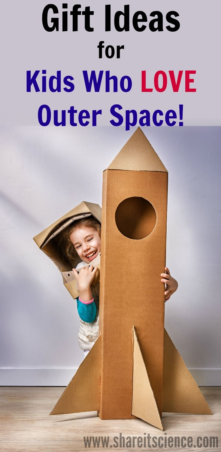 An extensive list of gift ideas for children that love astronomy, astronauts and outer space. Kids will have a ton of fun learning with these toys, dress-ups, games, science tools and more. #giftideasforkids #giftideas #holidayshopping #science #scienceforkids #astronomy #outerspace